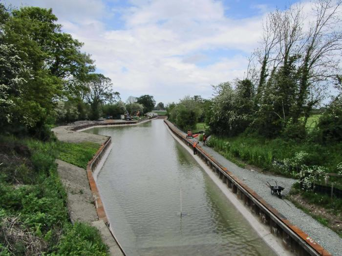 Montgomery Canal at Crickheath 2019 including new winding hole